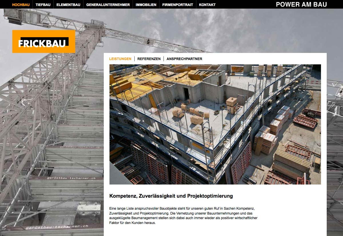Website Frickbau