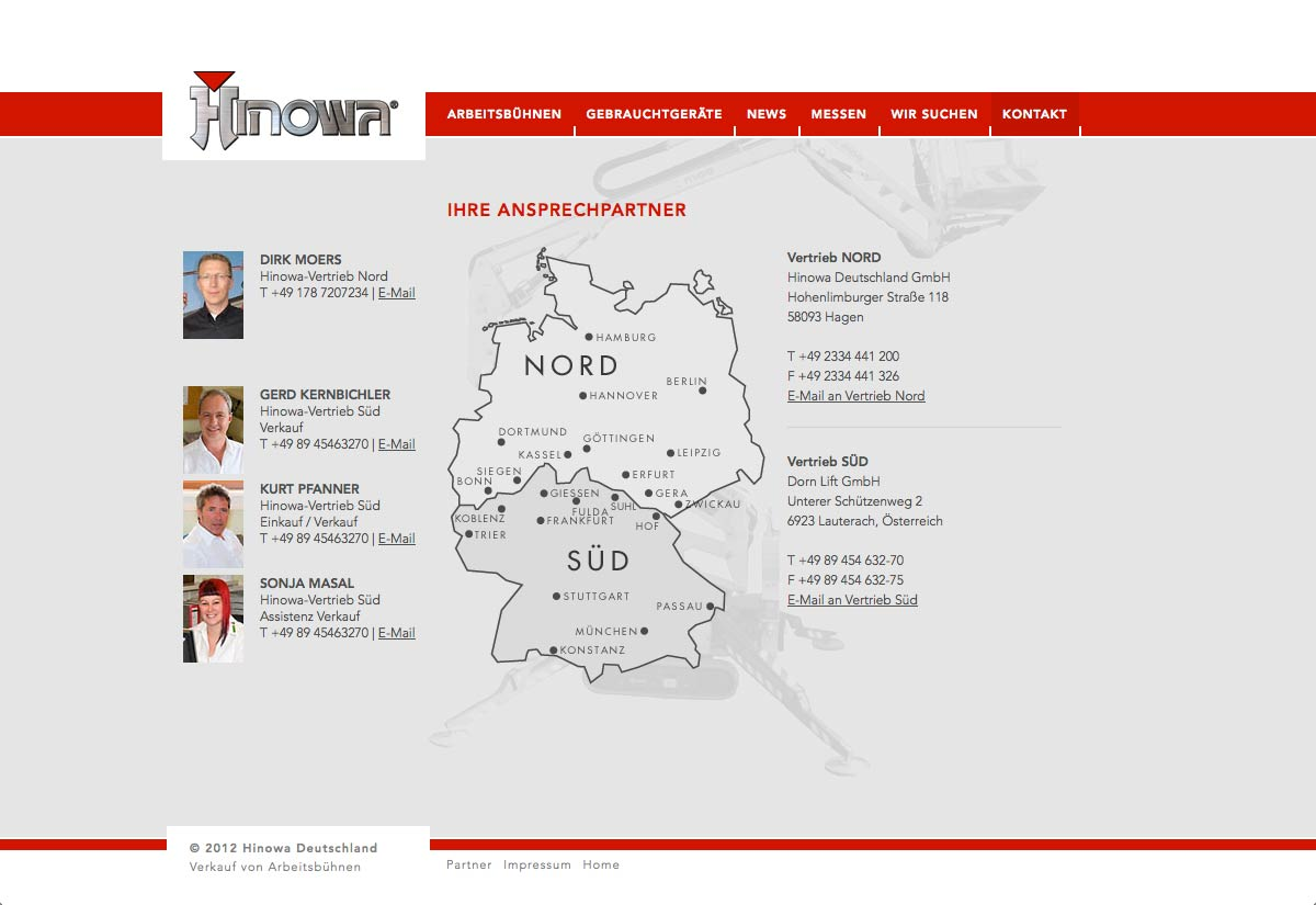 Website Hinowa Deutschland