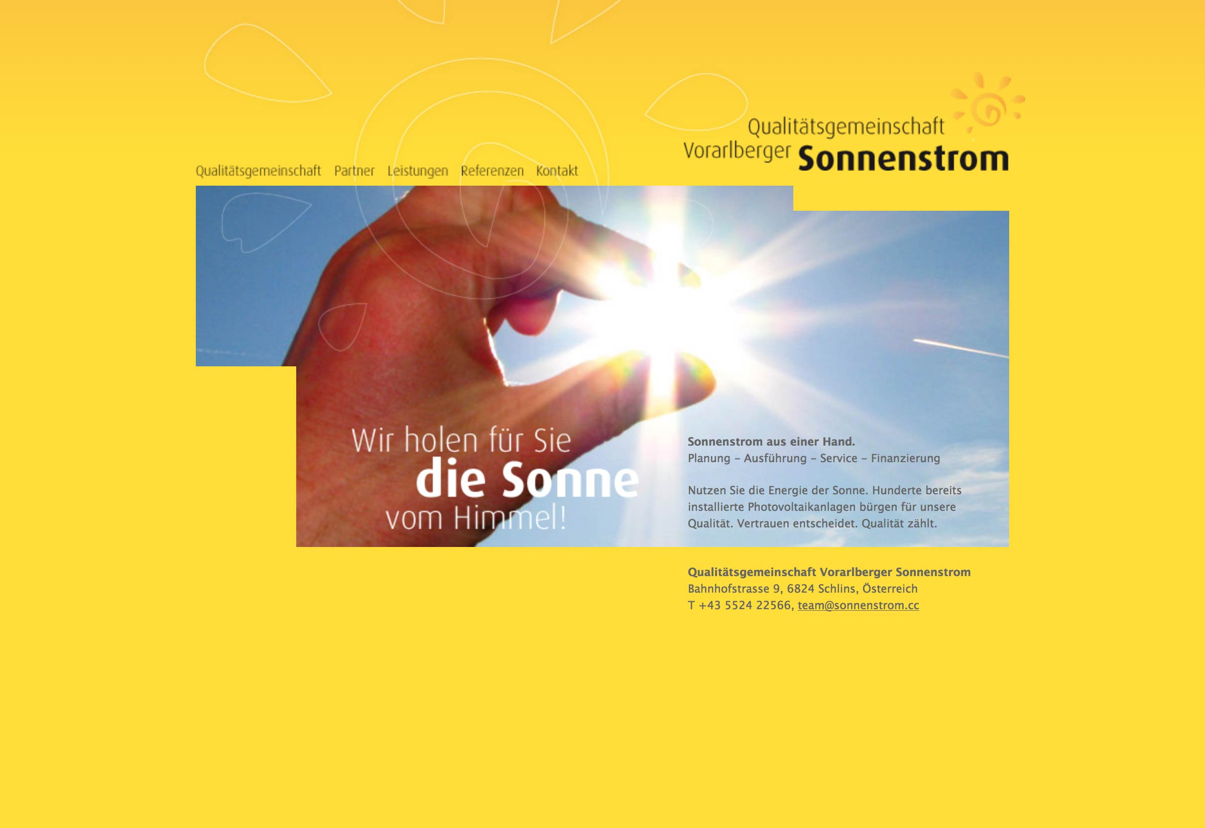 Website Sonnenstrom