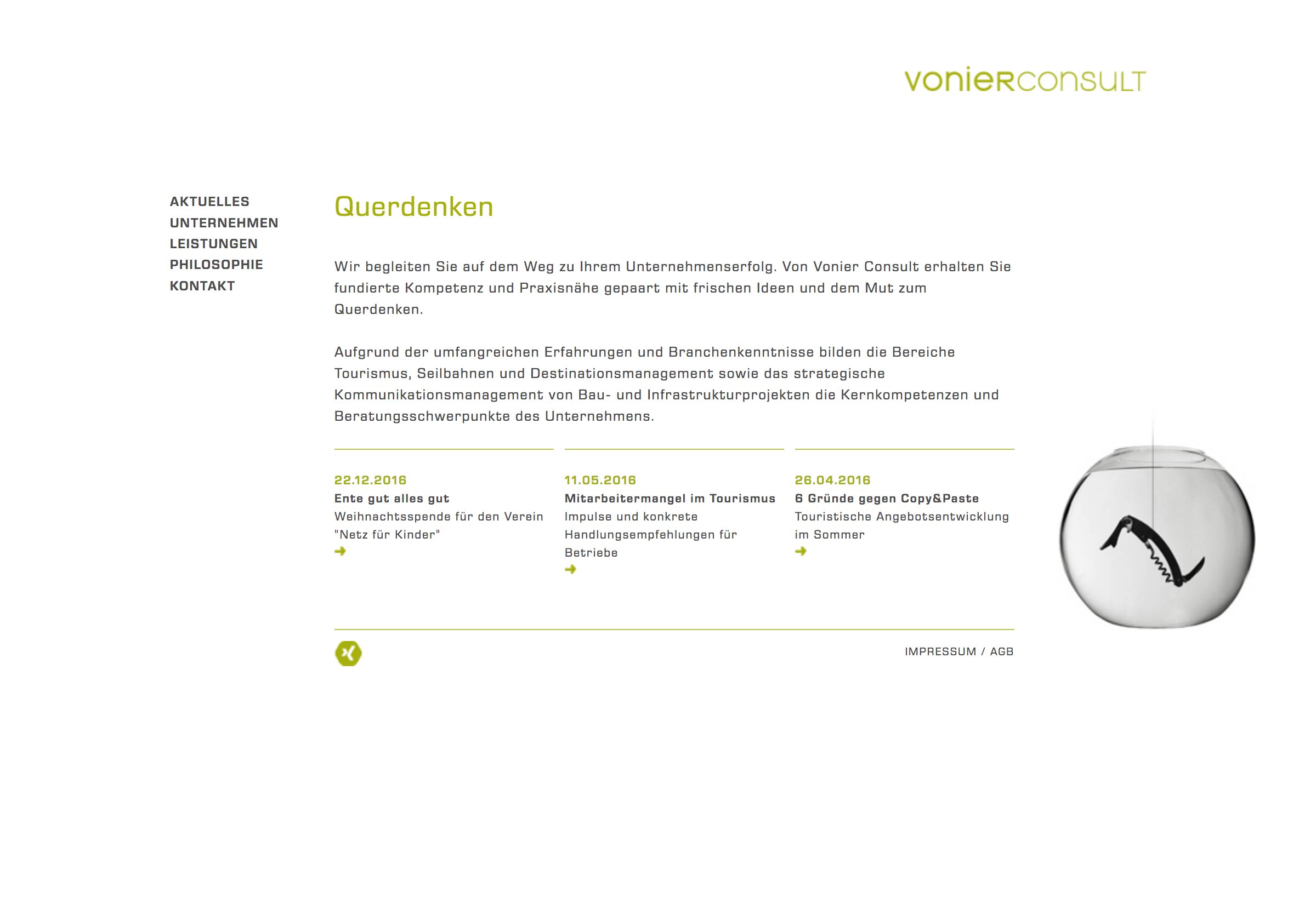 Website Vonier Consult