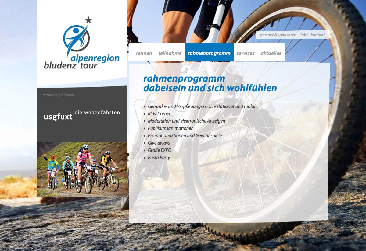 Website Alpenregion Bludenz Tour