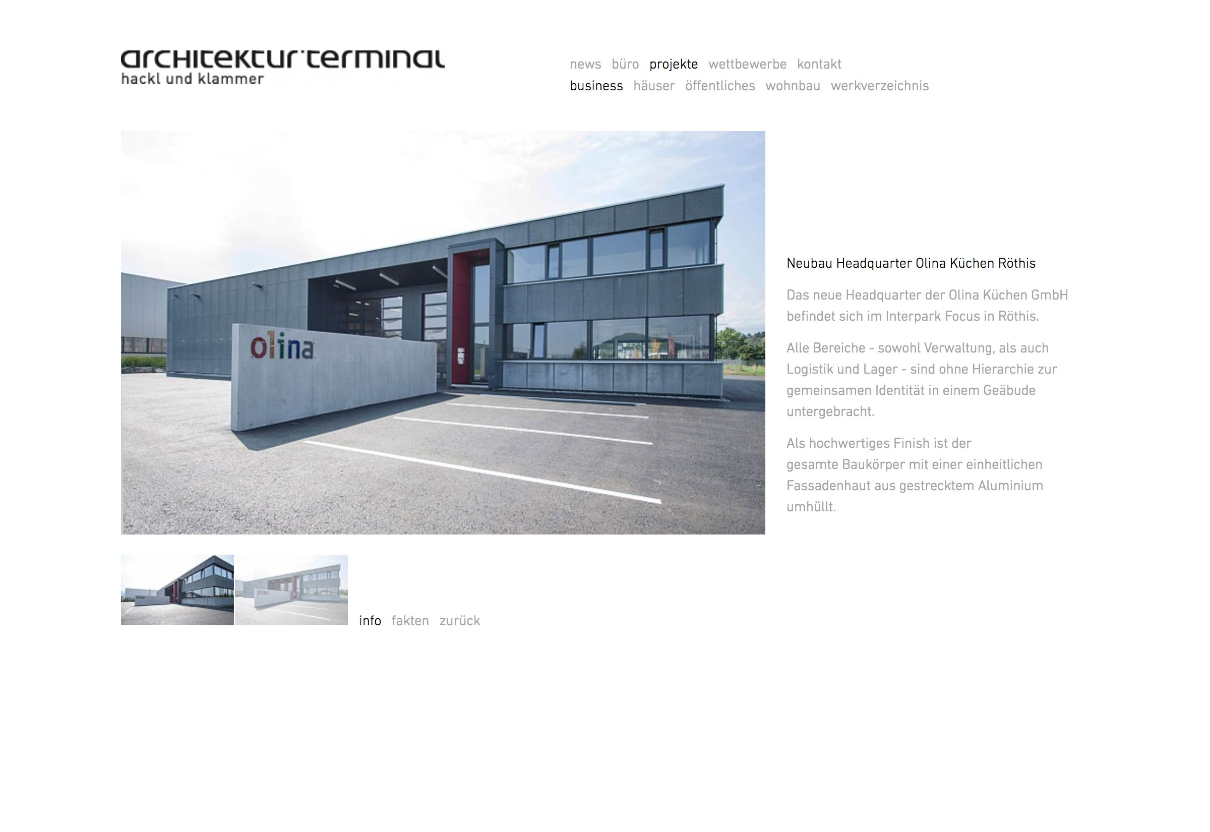 Website architektur.terminal