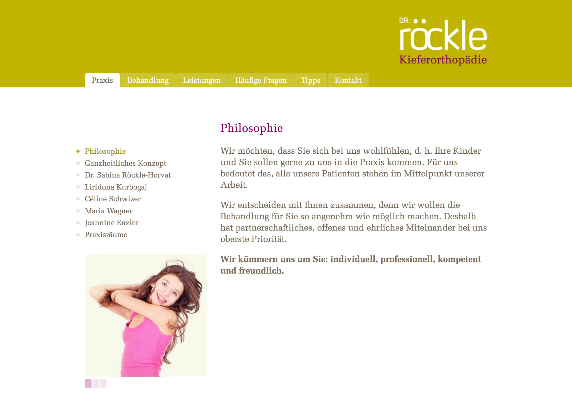 Website Dr. Röckle Sabina