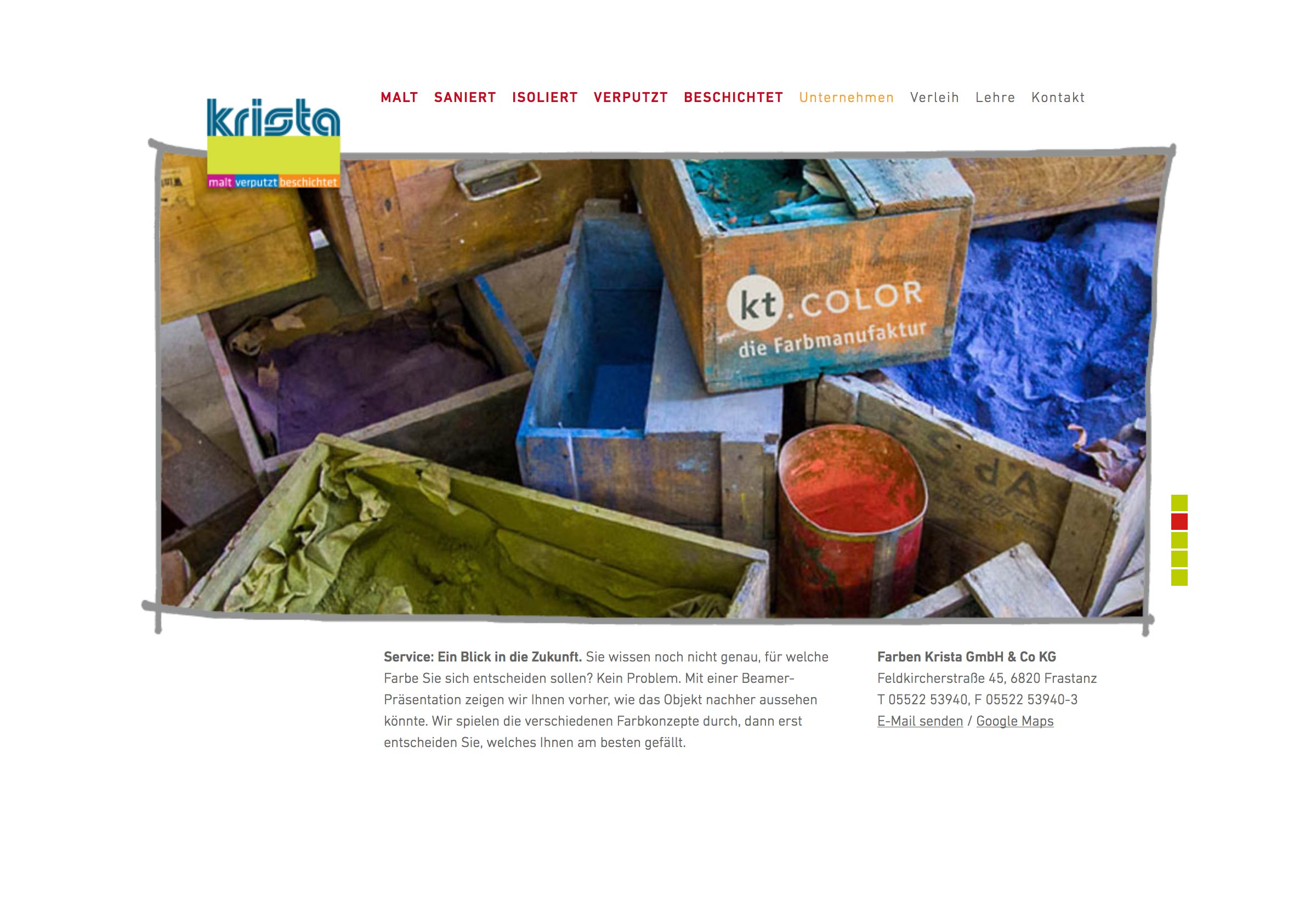 Website Farben Krista