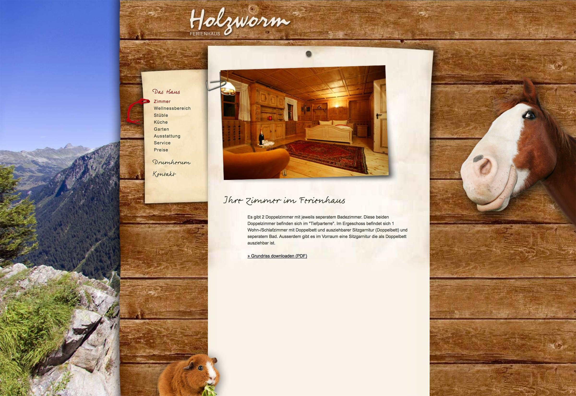 Website Haus Holzworm