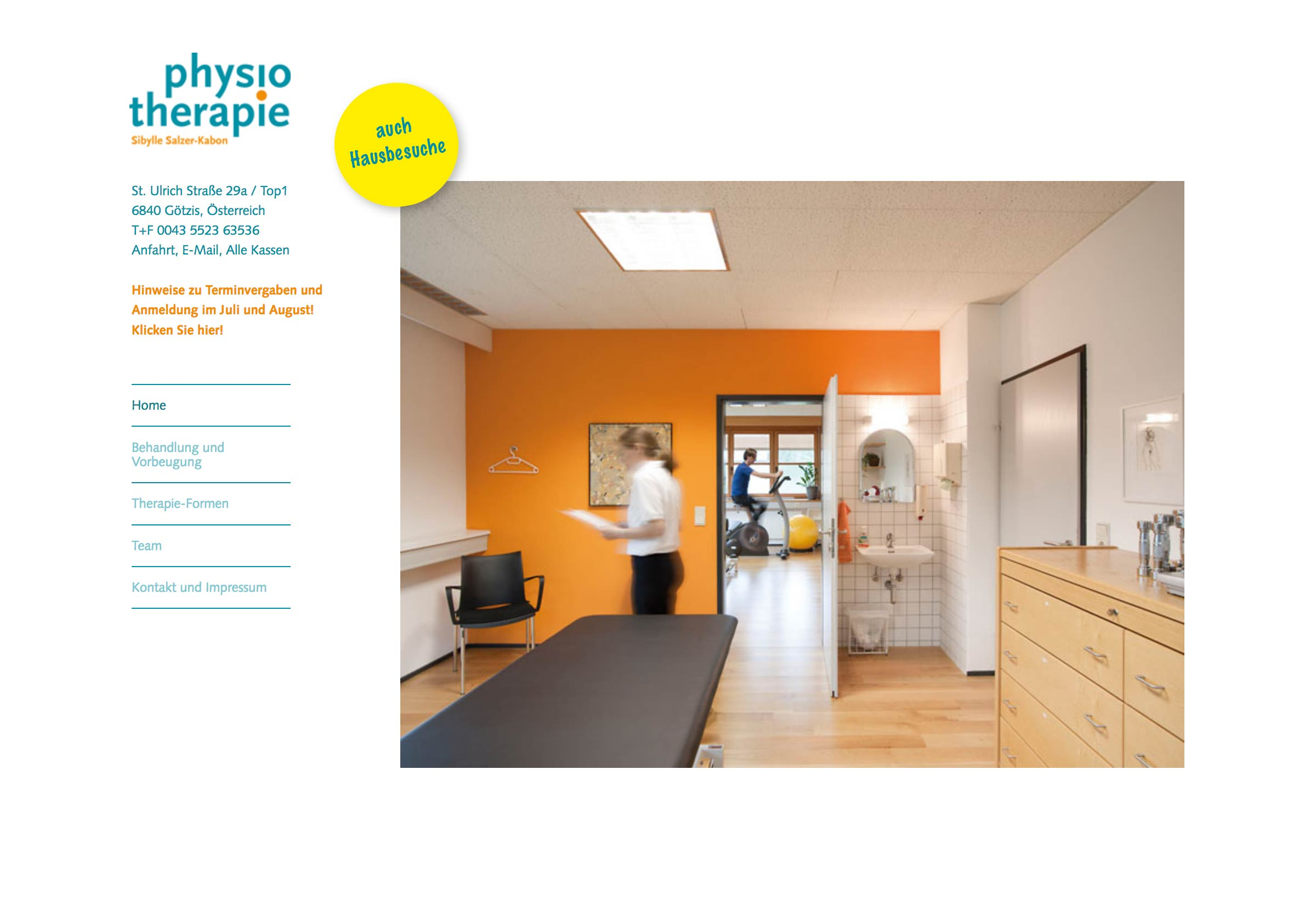 Website Physiotherapie Salzer-Kabon