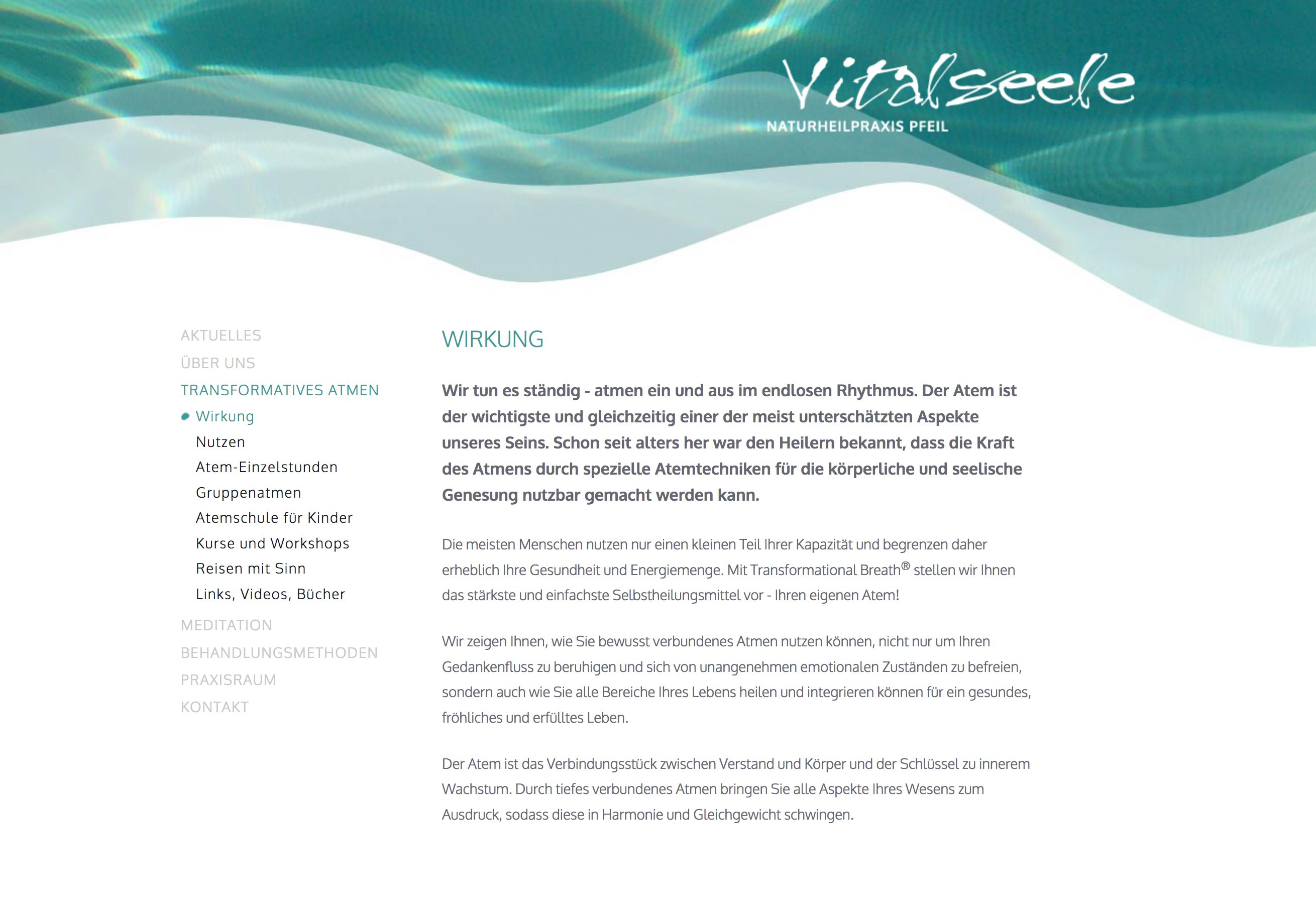 Website Vitalseele