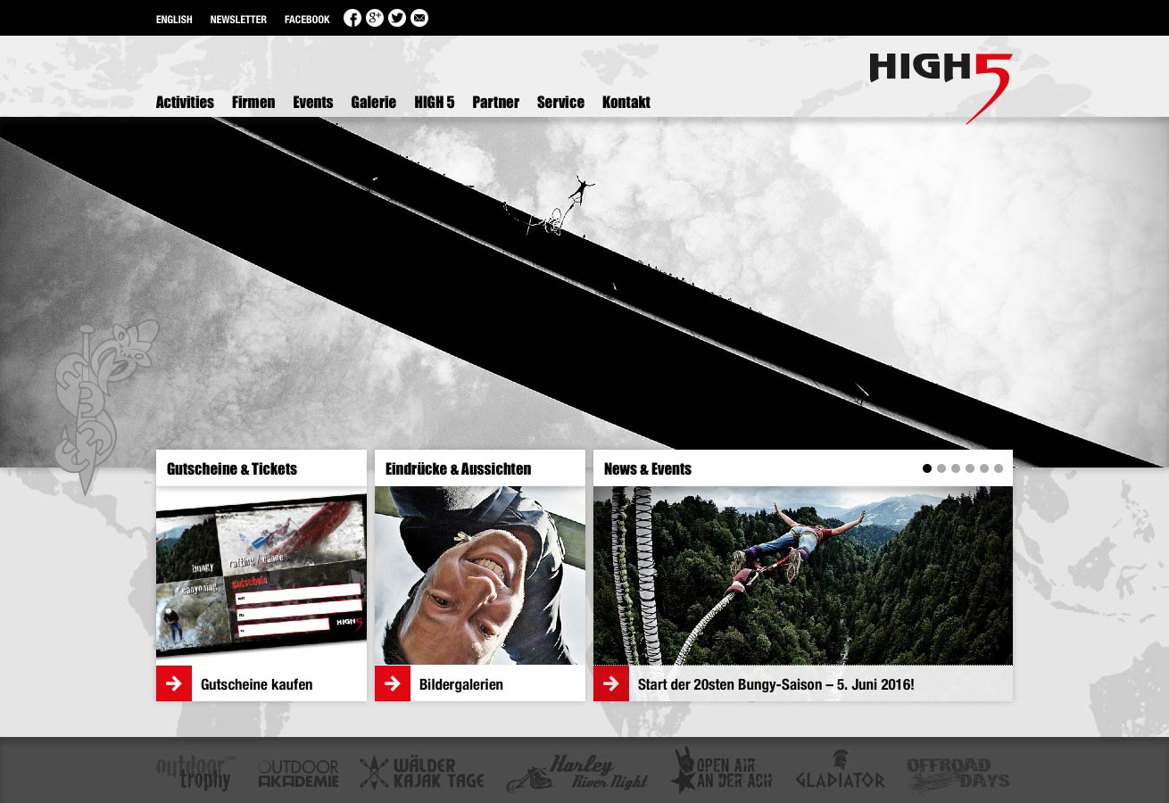 Website HIGH 5 Outdoor