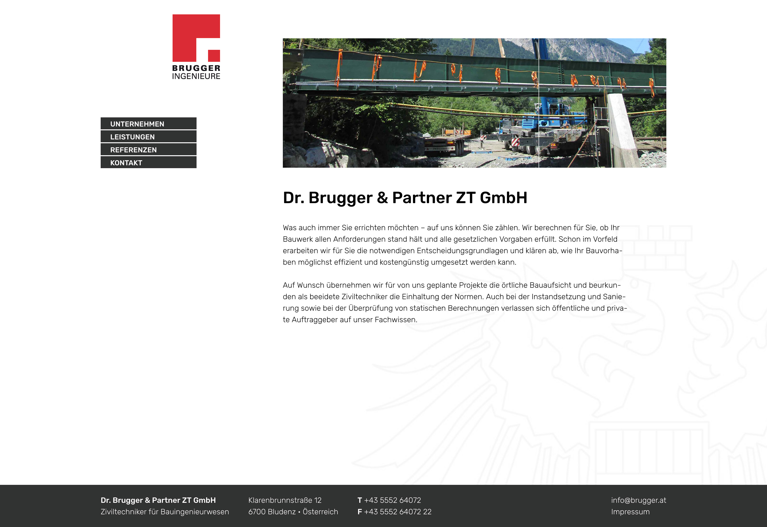 Website Brugger Ingenieure
