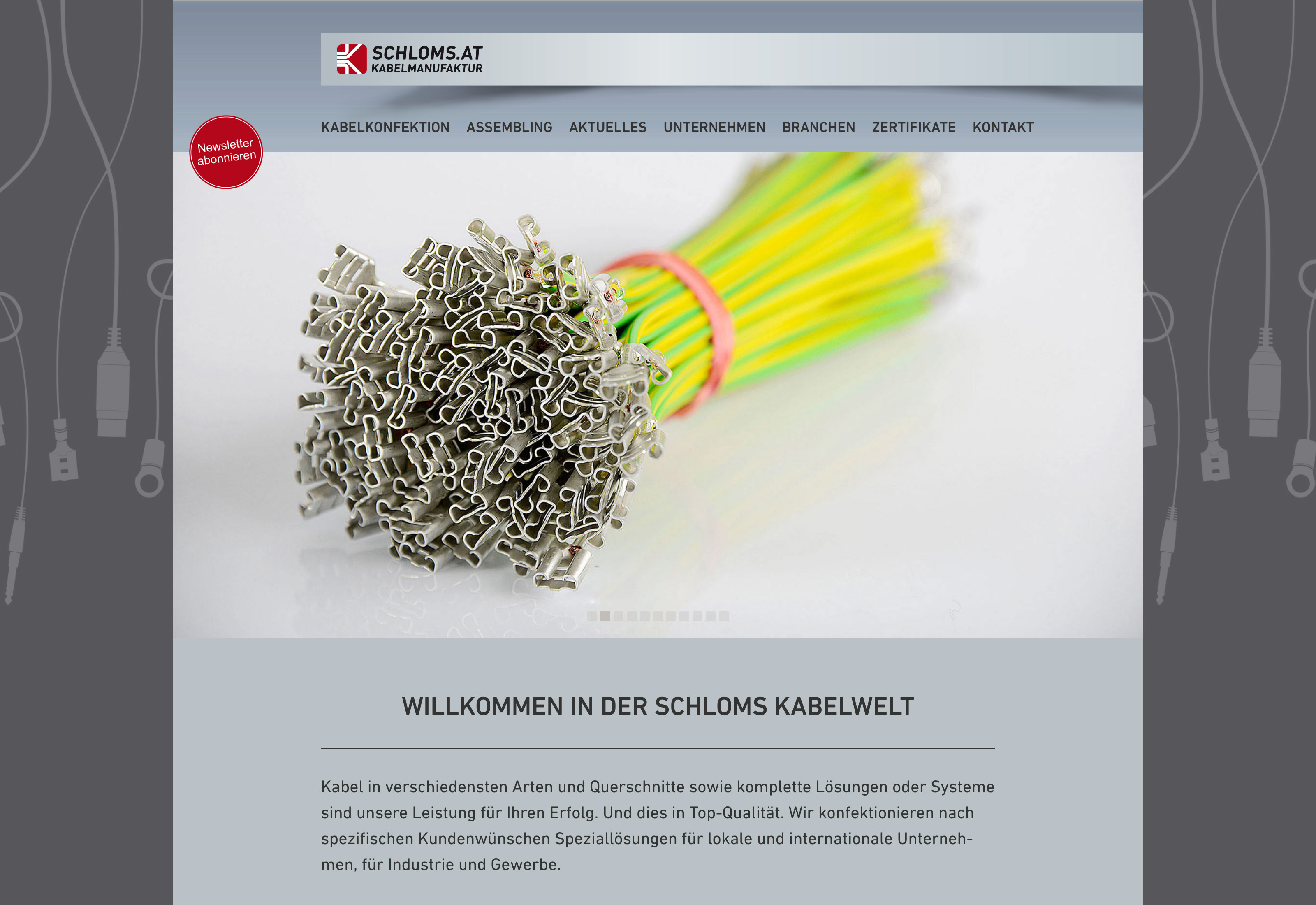 Website Schloms Kabelkonfektion