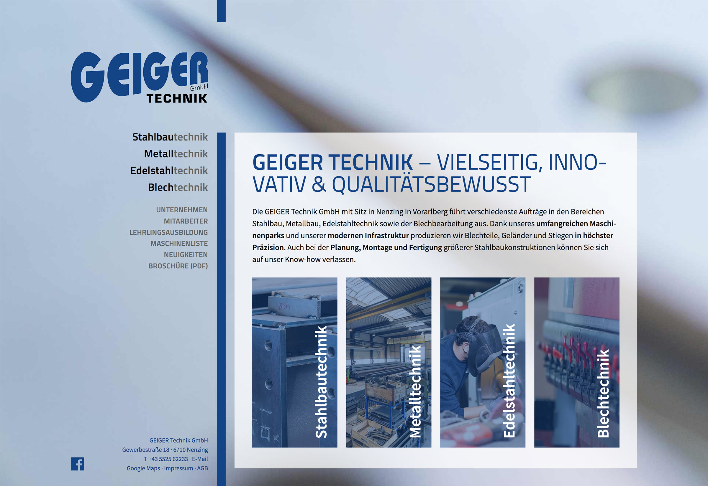Website GEIGER Technik